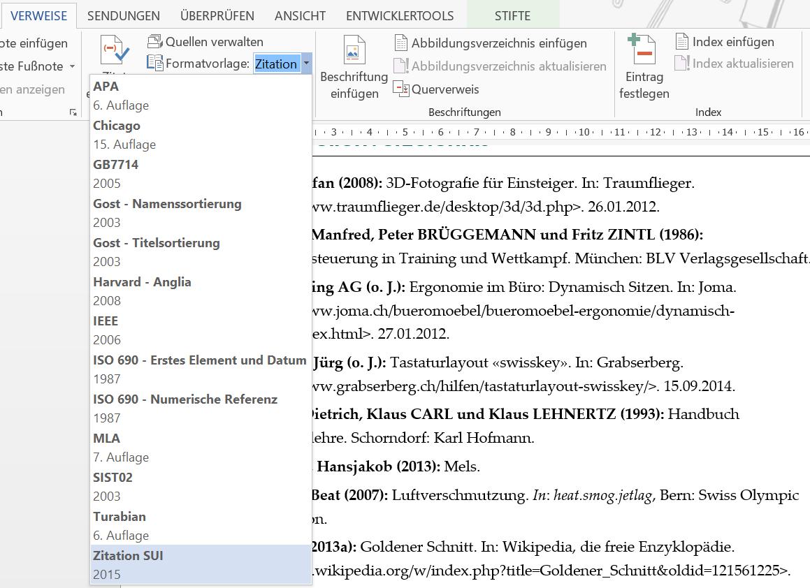 Quellenverzeichnis in Word – Herzlich willkommen